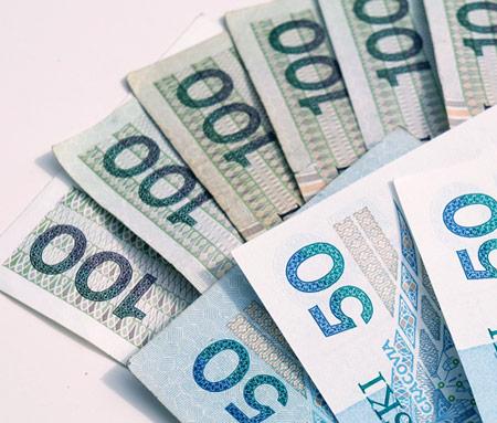 pieniadze 100 i 50 pln