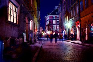 Wrocław - ulica nocą